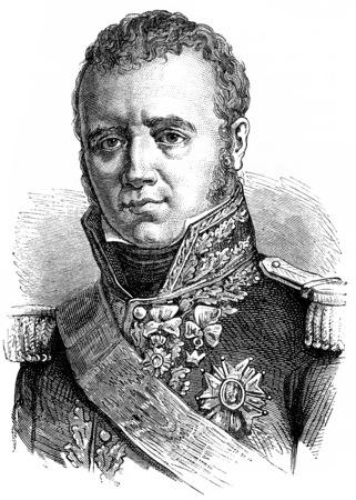 victor: Victor, vintage engraved illustration. History of France – 1885.