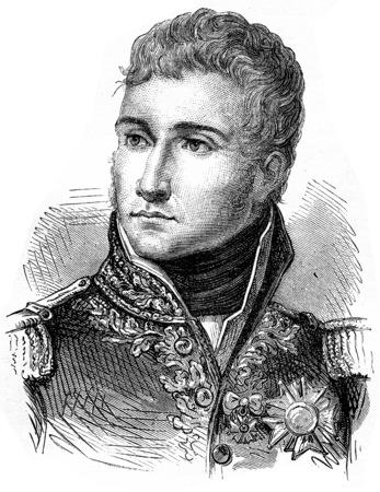 Lannes, vintage engraved illustration. History of France – 1885. Stock Illustration - 39824493