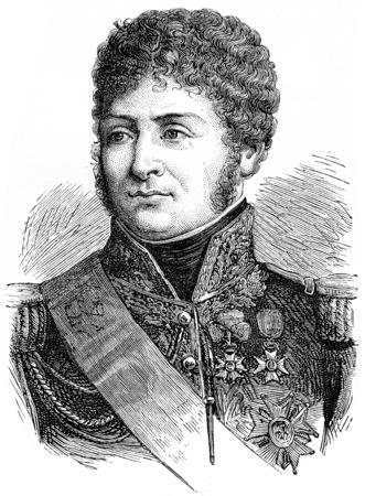 henri: Clarke, vintage engraved illustration. History of France – 1885.