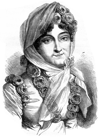 louise: Marie Louise, vintage engraved illustration. History of France – 1885. Stock Photo