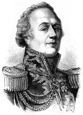 colonel: Narbonne, vintage engraved illustration. History of France – 1885.