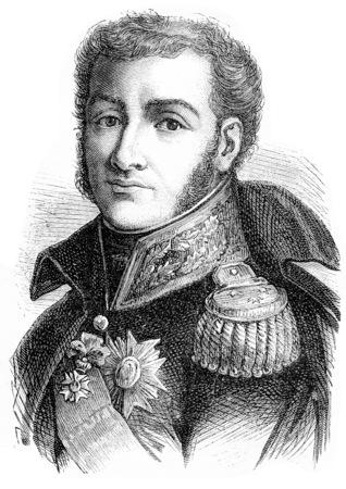 Bertrand, vintage engraved illustration. History of France – 1885. Stock Illustration - 39823847