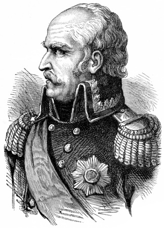 Blucher, vintage engraved illustration. History of France – 1885. Stock Photo