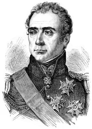 Marmont, vintage engraved illustration. History of France – 1885.