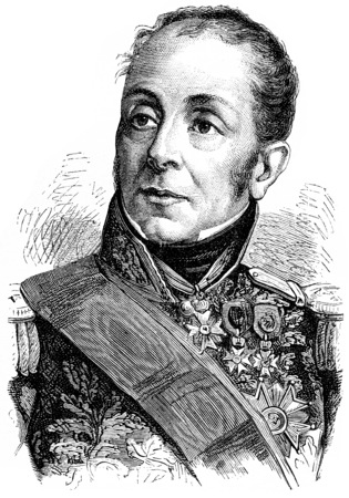 Grouchy, vintage engraved illustration. History of France – 1885. Stock Illustration - 39823709