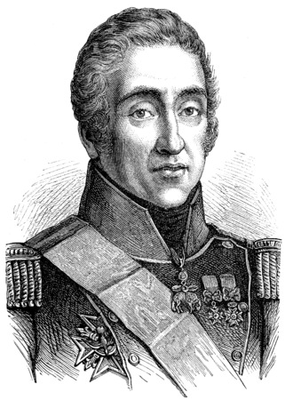 Charles X, vintage engraved illustration. History of France – 1885.