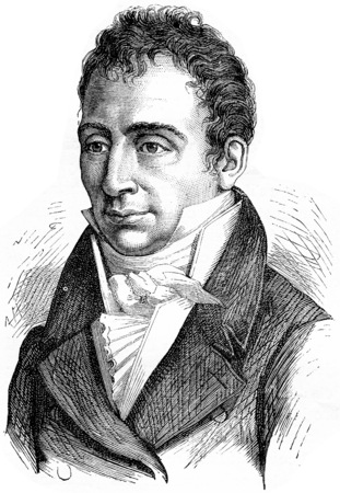 Courvoisier, vintage engraved illustration. History of France – 1885.