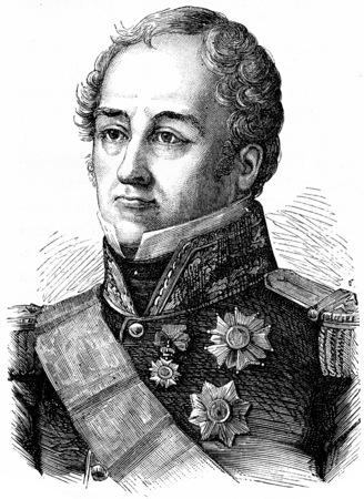 Sebastiani, vintage engraved illustration. History of France – 1885 Stock Illustration - 39822573