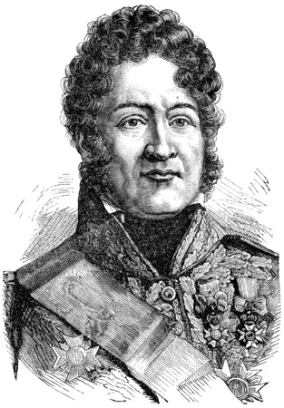 Louis Philippe I, vintage engraved illustration. History of France – 1885.