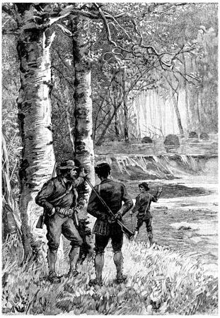 bewonderen: Er was reden om het werk van deze nijvere dieren te bewonderen, vintage gegraveerde illustratie. Jules Verne Cesar Cascabel, 1890.