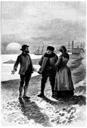 나는 정치적 추방이며, 빈티지 새겨 져있다. 쥘 베른 세자르 캐스케이블, 1890.