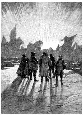 It was a wonder, vintage engraved illustration. Jules Verne Cesar Cascabel, 1890.