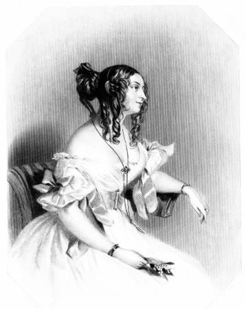 julie: The countefs Guiccidu, vintage engraved illustration.