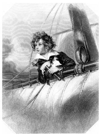 De Reefer, vintage gegraveerde illustratie. Stockfoto