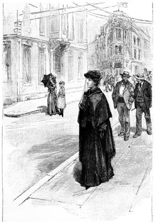 herrin: Dolly gedacht, um falsche, Jahrgang gravierte Darstellung sein. Jules Verne Herrin Branican 1891.