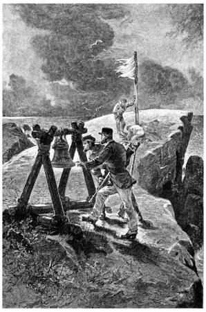 herrin: Da war dieser Name und Nummer. Franklin, 1875, Jahrgang gravierte Darstellung. Jules Verne Herrin Branican 1891. Editorial