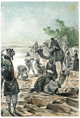 herrin: Zach Fren, unsere Versorgung mit Salz, Jahrgang gravierte Darstellung zu erneuern. Jules Verne Herrin Branican 1891.