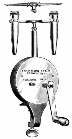 sediment: Centrifuge hematocrit attachment, vintage engraved illustration.