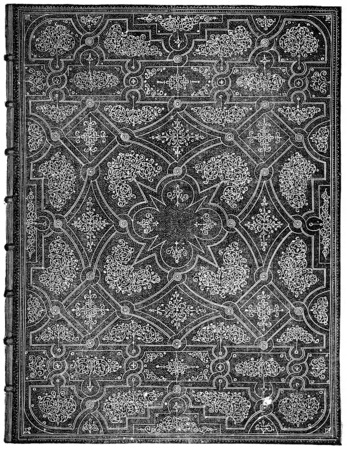 binding: Binding made by the Gascon, for Adonis La Fontaine, vintage engraved illustration. Industrial encyclopedia E.-O. Lami - 1875. Stock Photo