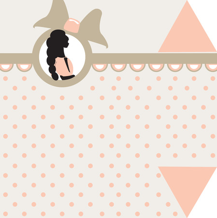 baby girl: Baby girl arrival card