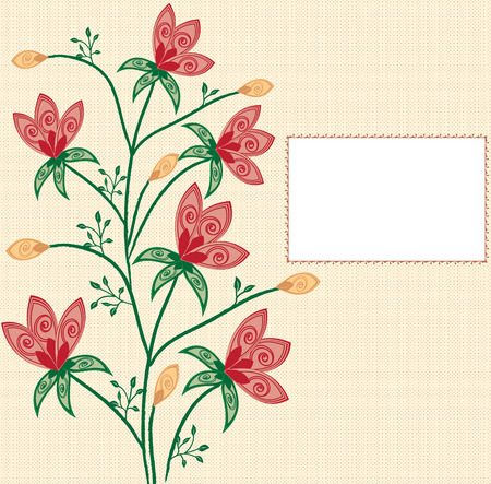 place for your text: Abstract flowers background with place for your text Illustration