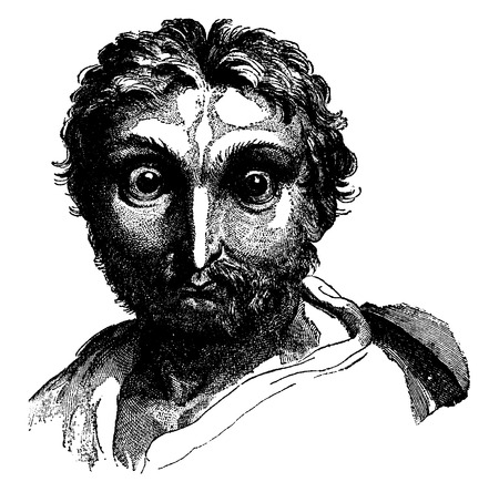 Owl, vintage engraved illustration. Earth before man – 1886. Иллюстрация
