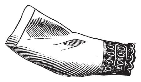sleeve: Victor collar and sleeve, vintage engraved illustration.