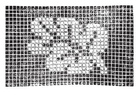 crochet: Crochet leaf for quilt, vintage engraved illustration. Illustration