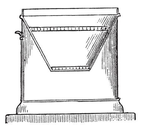 Furnace metal, vintage engraved illustration.