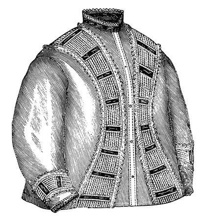 nightwear: Night dress, vintage engraved illustration. Illustration