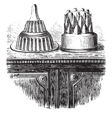 indulgence: Jelly sweets, vintage engraved illustration.