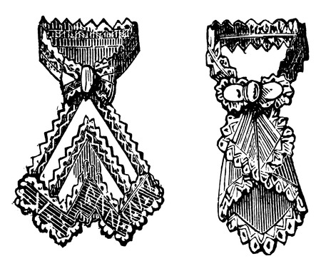 fashion design: Collars, vintage engraved illustration.