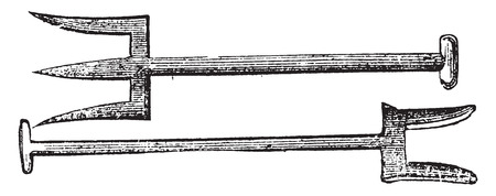 Forks, vintage engraved illustration. Illusztráció