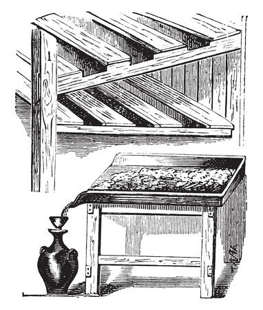 Greengrocer, vintage engraved illustration.