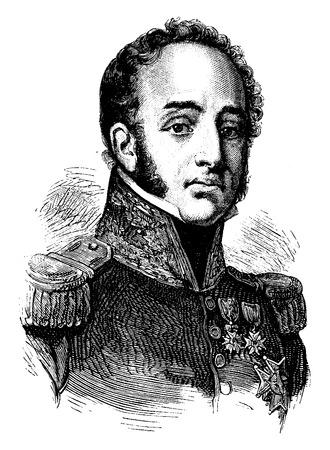 Suchet, vintage engraved illustration. History of France – 1885. Stock Vector - 41712807