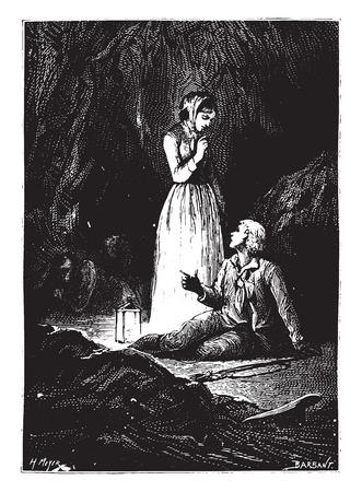 Ik weet alles, mijn lieve Dick, vintage gegraveerde illustratie.