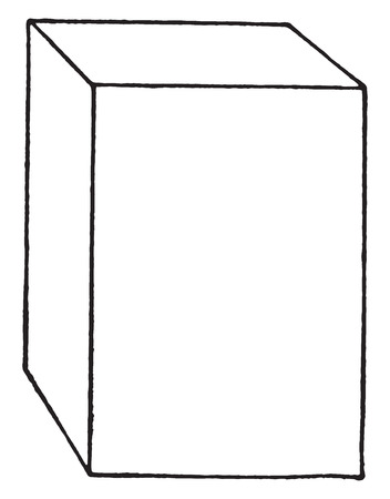 Block of hard wood or of rubber fiber as usually received in laboratory, vintage engraved illustration.