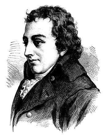 representations: Fichte, vintage engraved illustration. History of France – 1885. Illustration