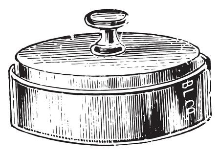 chamber: Moist chamber for potato culture, vintage engraved illustration. Illustration
