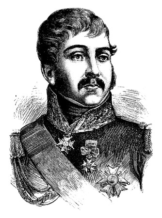 representations: Rapp, vintage engraved illustration. History of France – 1885.