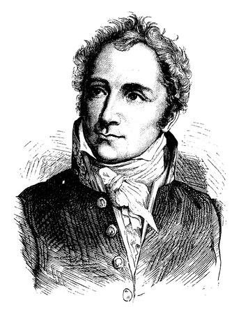 statesman: Casimir Perier, vintage engraved illustration. History of France – 1885.