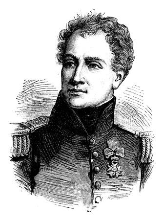 musketeer: Malet, vintage engraved illustration. History of France – 1885.