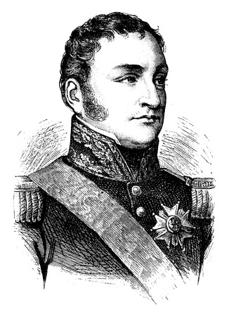 the marshal: Clausel, vintage engraved illustration. History of France – 1885.