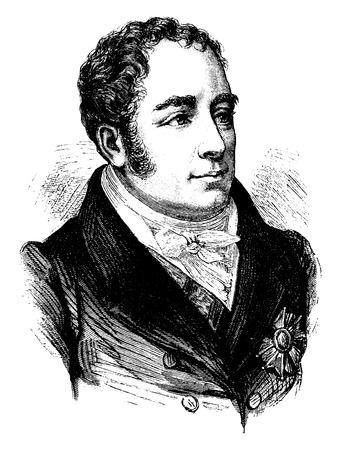 statesman: Daru, vintage engraved illustration. History of France – 1885..