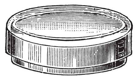 diameter: Dish devised, vintage engraved illustration. Illustration