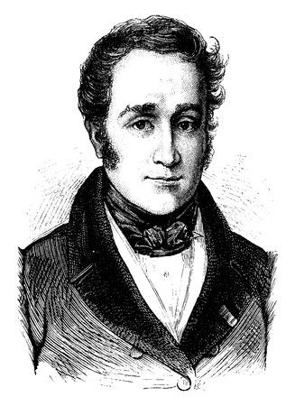 statesman: Victor de Broglie, vintage engraved illustration. History of France – 1885.