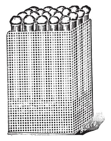 tinned: Test tube basket, made of tinned metal, for holding test-tubes, vintage engraved illustration.