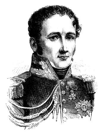 old man portrait: Drouot, vintage engraved illustration. History of France – 1885.
