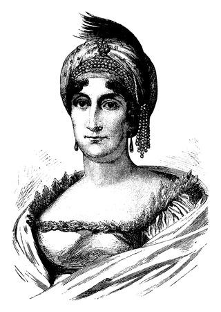 Letizia Ramolino, vintage engraved illustration. History of France – 1885.