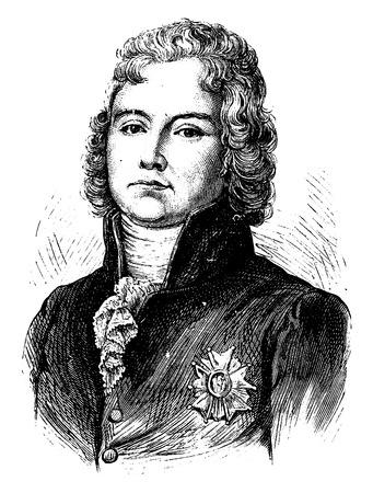 statesman: Talleyrand, vintage engraved illustration. History of France – 1885.